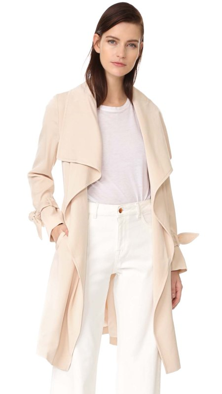 Club Monaco Ellayne Trench Coat Vanilla Bean trench coats spring 2017