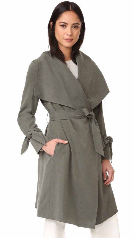 Club Monaco Ellayne Trench Seaweed Green trench coats spring 2017