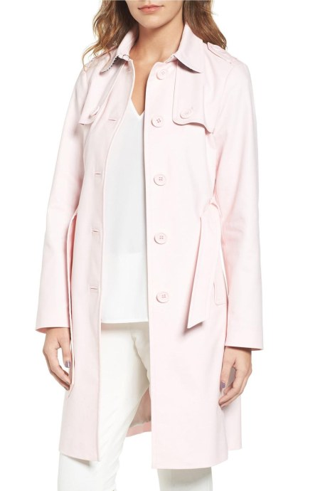 KATE SPADE New York Trench Coat Pastry Pink trench coats spring 2017