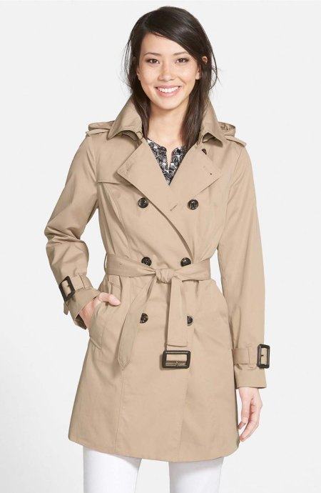 LONDON FOG Heritage Trench Coat with Detachable Liner Stone top trench coats spring 2017