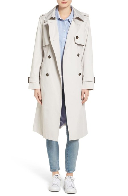 London Fog Double Breasted Trench Coat Pebble trench coats spring 2017