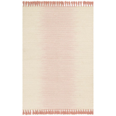 Magnolia Home Chantilly Blush Rug Fringe Pink Ivory Pier 1 magnolia home by joanna gaines for pier 1