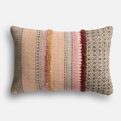 Magnolia Home Norma Pink & Beige Lumbar Pillow Pier 1 magnolia home by joanna gaines for pier 1