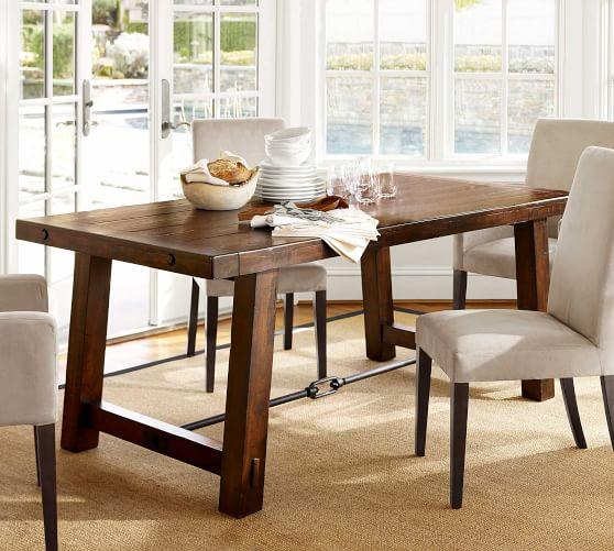 best pottery barn dining tables on sale