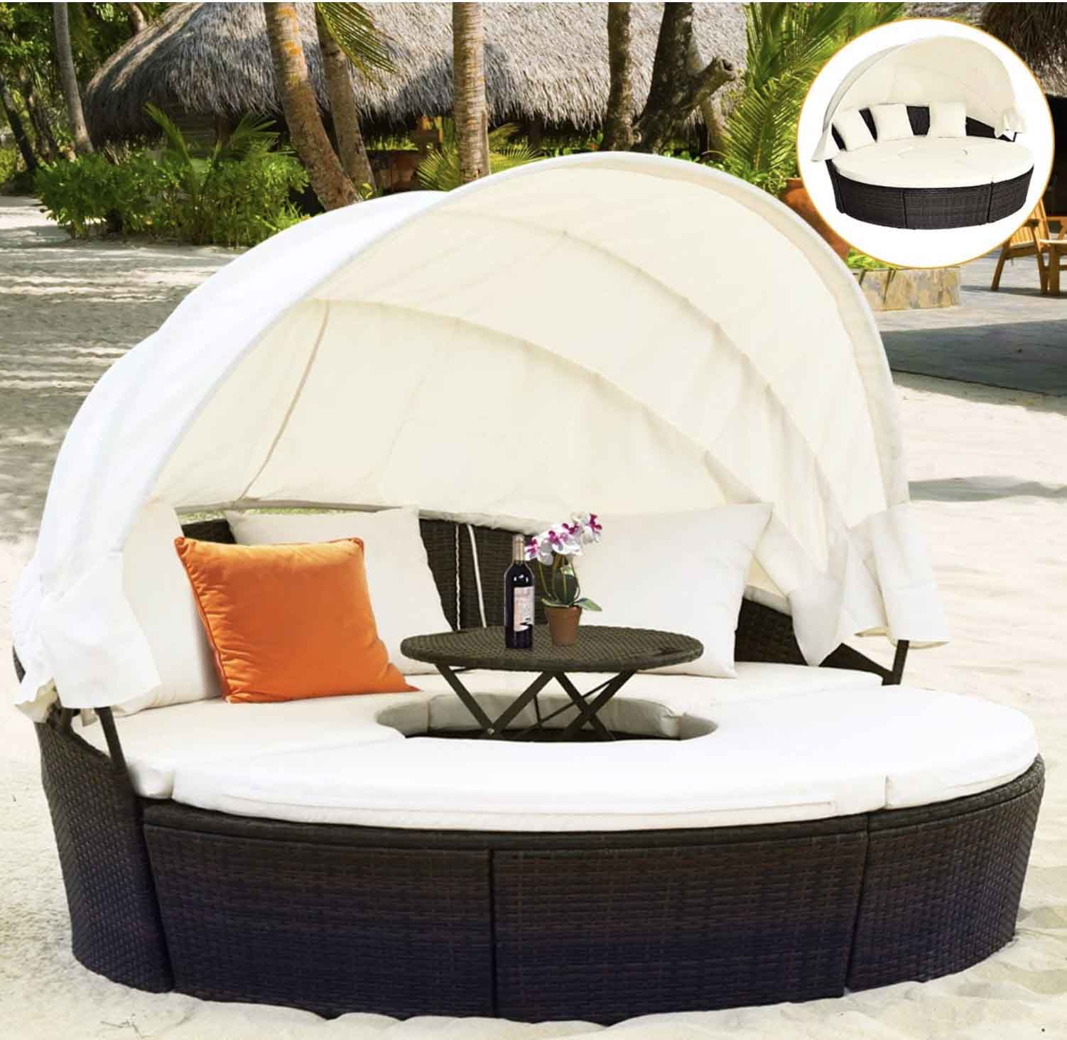 20 Gorgeous Outdoor Daybeds For Your Patio and Backyard ... on Belham Living Brighton Outdoor Daybed id=44896