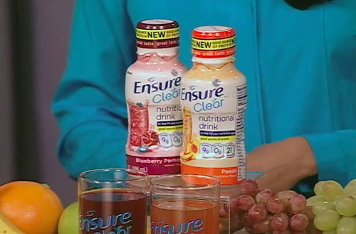 Ensure Clear blueberry pomegranate, peach flavor, candace rose, dr. roshini raj, women's health, candace rose anderson candieanderson.com