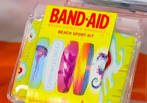 Beach Sport Kit Band-Aid Brand Adhesive Bandages Designed by Cynthia Rowley