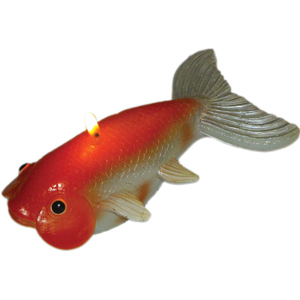 bug eyed gold fish candle