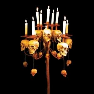 skull candle candelabra
