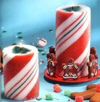 Candy Land Pillar Candle