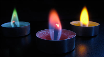 Try Colored Flame Candles Or Make Your Own Candle Making