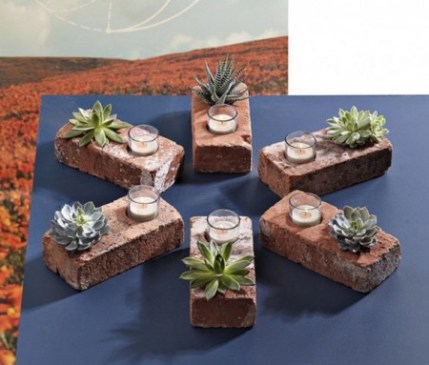 Brick Votive Holder/Planter