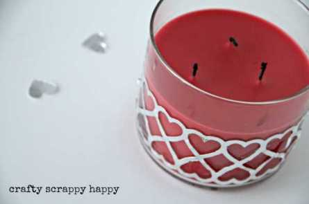 Heart Candle @ Craft Gossip