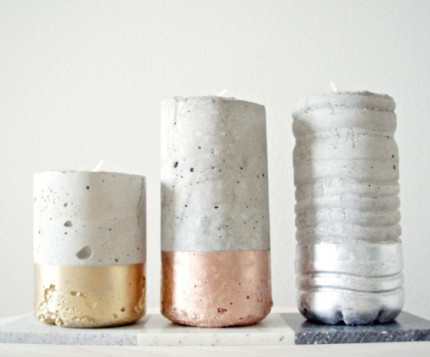 DIY Concrete Candles @ Craft Gossip