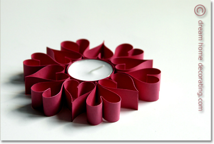 Quilled(-ish) Heart Candle Holder @ Craft Gossip