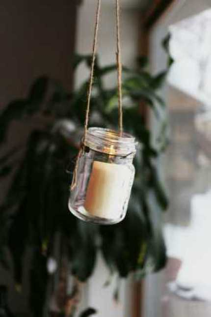 Rustic Hanging Votives