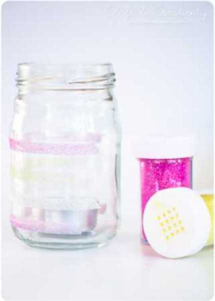Glitter-striped Candle Holders