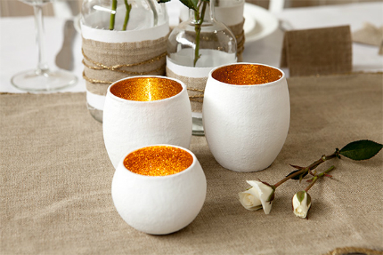 Gorgeous Golden Candle Holders
