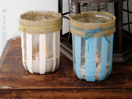 Striped Beach Luminaries