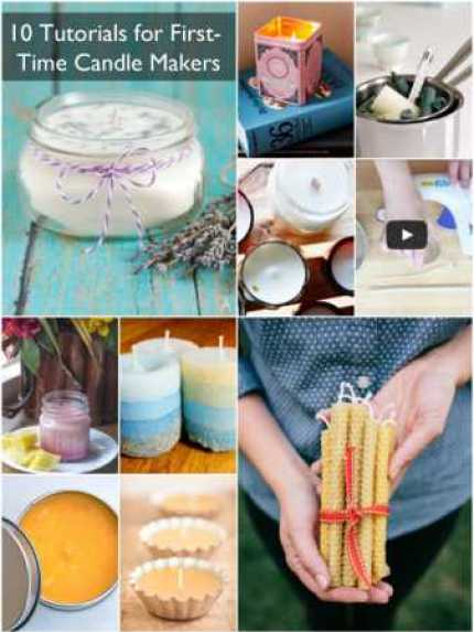 10 Tutorials for First-time Candle Makers