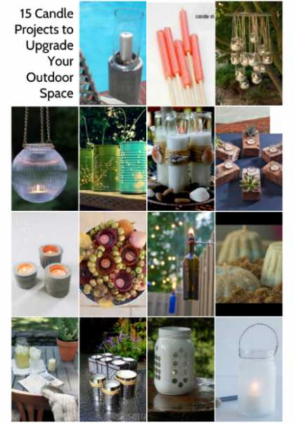 15 Candle Projects to Upgrade Your Outdoor Space