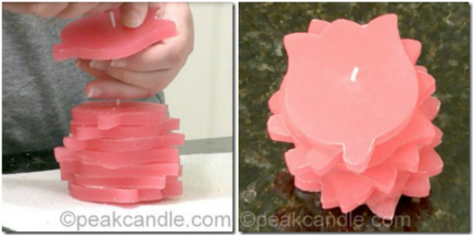 Easy Stacked Pillar Candle