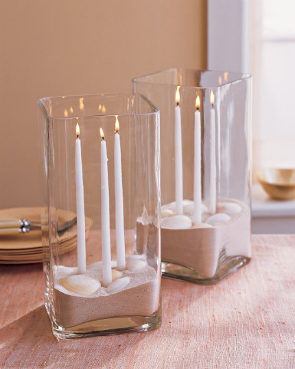 Beach-themed Candle Centerpiece