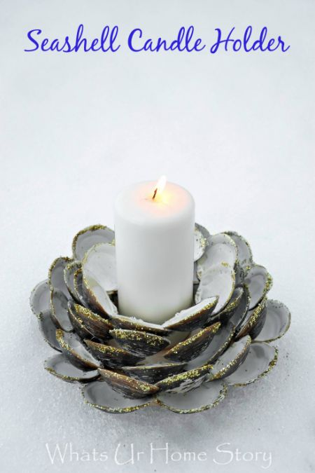 diy-seashell-candle-holder