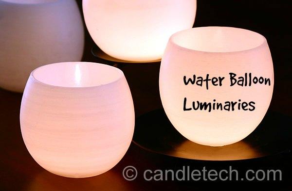 How to make water balloon luminaries