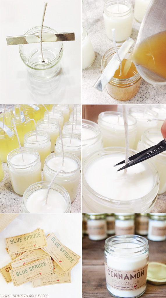 photo about Free Printable Candle Labels titled Simple Soy Candles Items With Totally free Printable Labels Candle