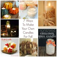 7 Ways to Make Your Own Candles for Fall