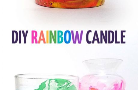 DIY Rainbow Candle Holders