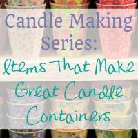 Which containers can you use for Candles?
