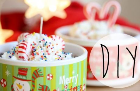 Handmade Gifts – Hot Chocolate Christmas Candles