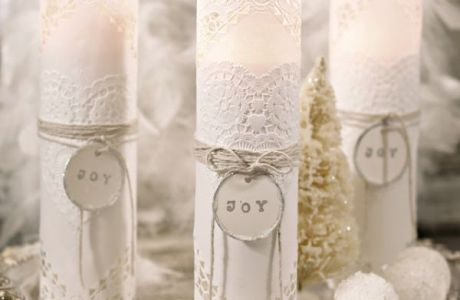 DIY Paper Doily Candles