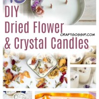 Make Your Own Loaded Dried Flower and Crystal Candles