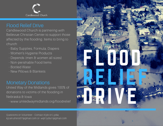Flood Relief Drive at Candlewood Church Omaha