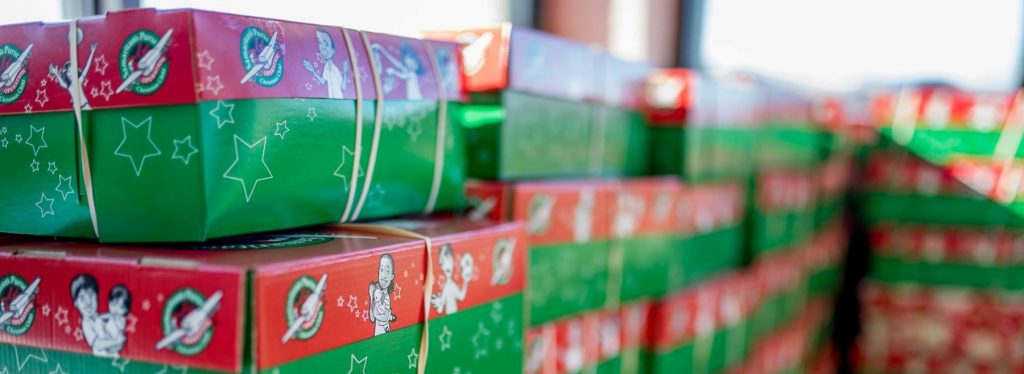 operation christmas child shoebox collection day at candlewood church