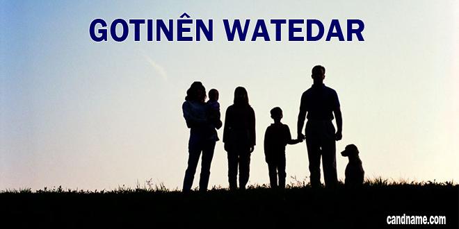 Gotinên Watedar