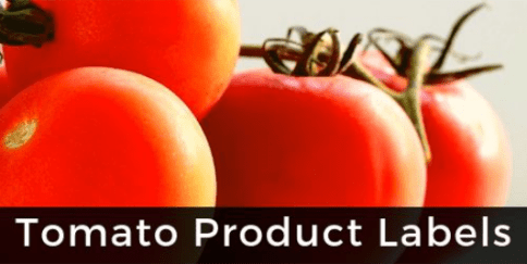 View Tomato Product Labels