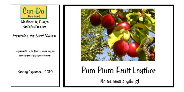 Pom Plum fruit leather