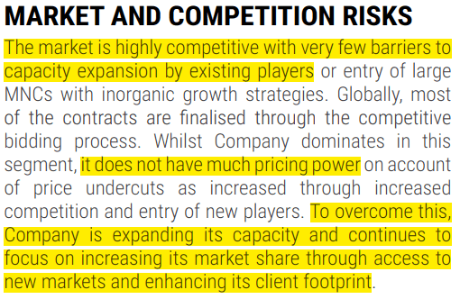 Competition Risks - AR sterlite