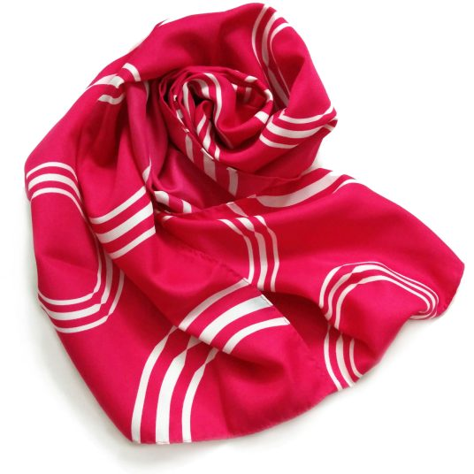 This long polyester scarf was custom made for Silver Airways.