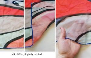 silk chiffon digitally printed
