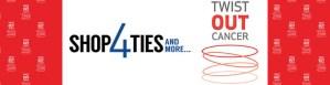 Shop4Ties and TwistOutCancer logos