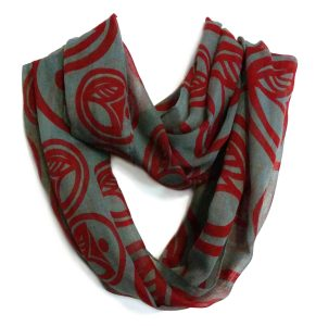 Infinity scarf in polyester voile