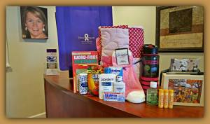 Chemo Care items that go in to the Tricia Troops bags and goodies