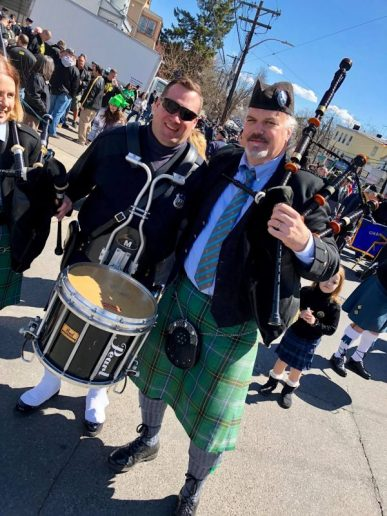 Bergen Irish Pipe Band at the Yonkers St Patrick's Parade 2018