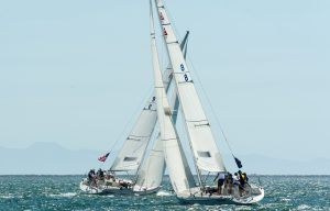 image of two yachts on the water for the Congressional Cup 2018