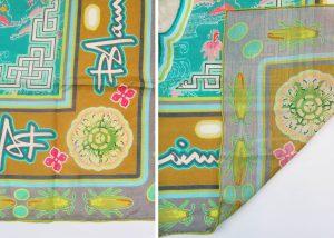 sample of silk cotton blend fabric for custom scarves